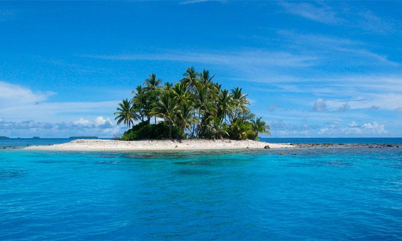 остров в океане фото